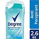Degree Dry Protection Antiperspirant, Shower Clean 2.6 oz (Pack of 6)