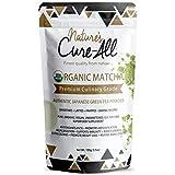 Organic Matcha Green Tea Powder, Premium Japanese Tea Matcha Latte, 1st Harvest Culinary Grade, Support Weight Loss, Boost Immunity, Lowers Cholesterol & Blood Sugar - USDA Certified (3.52 Oz)