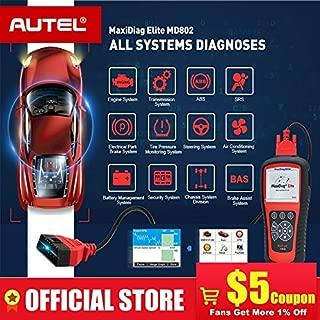 maxidiag elite md802 full - MaxiDiag Elite MD802 All system DS model Car OBD2 Scanner Full System Diagnoses ABS SRS Engine Transmission EPB Oil Reset ()