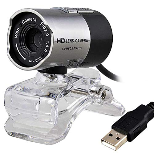 MAICOLA USB cámara de vídeo cámara de vídeo HD 360 ° de rotación Ajustable Webcam cámara incorporada Micrófonos de Video en función de visión Nocturna Conferencia enseñanza de la Red