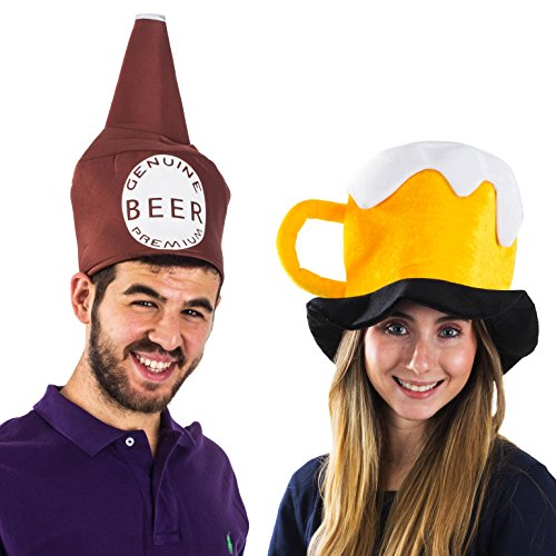 Beer and mug drinking themed costume for couples