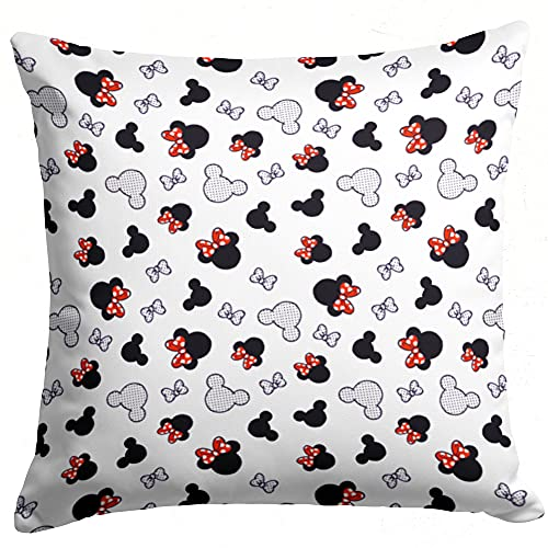 Kopfkissenbezug Baumwolle Kissenbezug Kinder 80 x 80 cm - Kissenhülle Baby Dekokissen Bezug für Kissen Maus