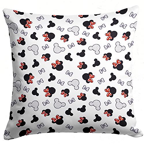Kopfkissenbezug 40x40 Baumwolle Kissenbezug Kinder - Kissenhülle Baby Dekokissen Bezug für Kissen (Maus Motiv, 40x40 cm)