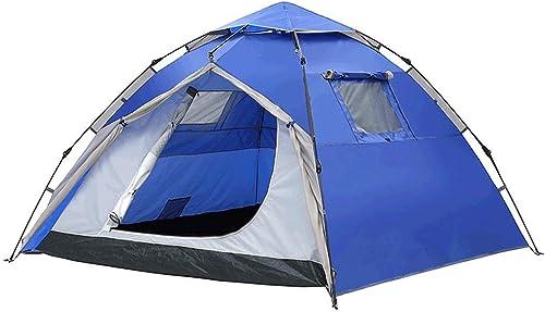 BJYG Tente Camping en Plein Air épaississement Anti-Tempête Pluie UV 3-4 Personnes Accueil Voyage Multijoueur