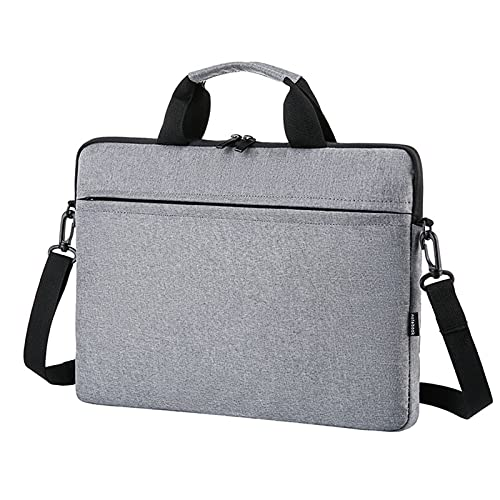 MWQCEW Bolsa de la computadora portátil 13.3 14 15.6 Pulgadas Manga Impermeable for el Cuaderno pfor MacBook for Air Pro 13 15 Computer Bags Bols Bags Bolsos (Color : Gray, Size : 15')