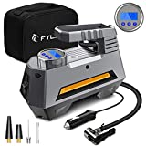 Digital Tyre Inflator, FYLINA Preset Air Compressor Tyre Pump Car Pump, 12V 120W 120PSI Tyre Pump with Larger...