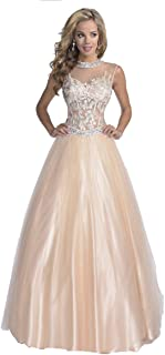 Karishma Special Occasion and Formal Evening Gown Prom Dress Style 16243 Size 8 Nude
