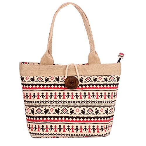 Hipytime BHB880426C7 Fashionable Canvas Leisure Women's Handbag,Vertical Section Square Lock Bag
