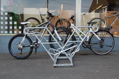 Fahrradständer (Anlehnparker) 2616 zweiseitig (6 Einstellplätze)