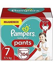 Pampers Baby Dry Pants - Luierbroekjes Maat 7 (17+ Kg) - 104 Stuks - Maandbox