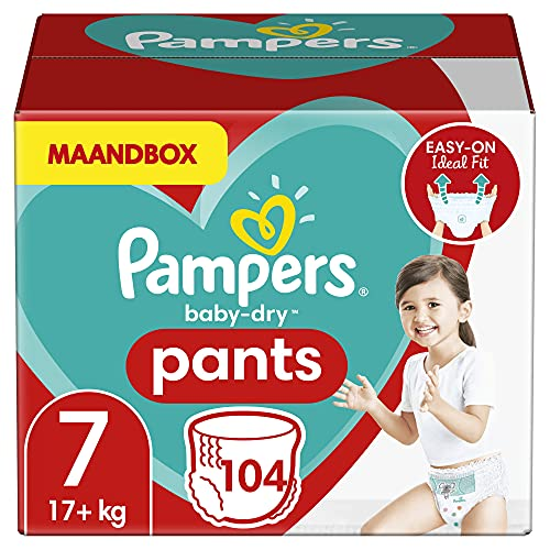Pampers Baby-Dry taglia 7 (17kg) 104 pannolini