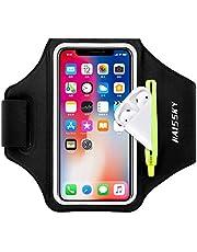 """HAISSKY Fascia da Braccio con Borsa Airpods, Fascia Sportiva da Braccio Porta Cellulare Braccio Portacellulare Armband per iPhone 12 Pro/11 Pro/11/XR/XS/X Galaxy S20/S10/S9/S8 Fino a 6,5"""""""
