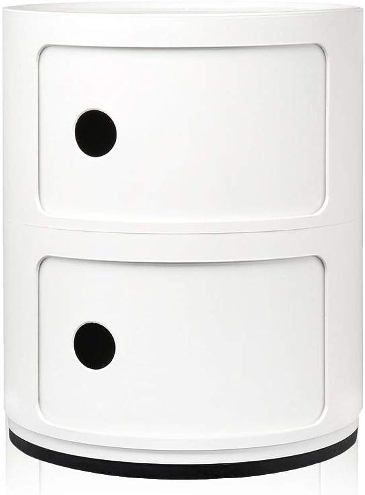 Kartell componibili contenitore 2 elementi base tonda 4966/03