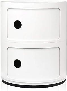 Kartell Componibili, Conteneur 2 Éléments, Blanc, Base Ronde