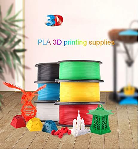 QDTD Impresora 3D de Filamentos de Cola PLA for Impresoras 3D Filamentos Impresión 1.75mm 2KG Blanca