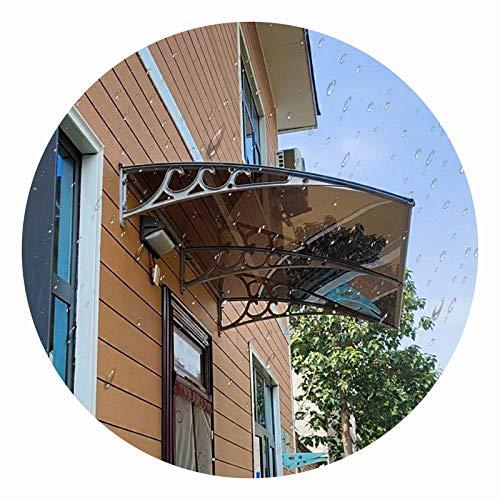 LIANGLIANG Vordach Haustür Überdachung, Transparent Anti-UV Starke Temperaturanpassungsfähigkeit, Schalldämpfer Anti-Lärm Tür Fenster Plakatwand Regenfahrt (Color : Brown, Size : 100x80cm)