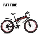 Bici elettrica Fat Mountain Bike 1000W 48V da uomo 21 velocità Pedali bici da neve Heavy Duty Bike...