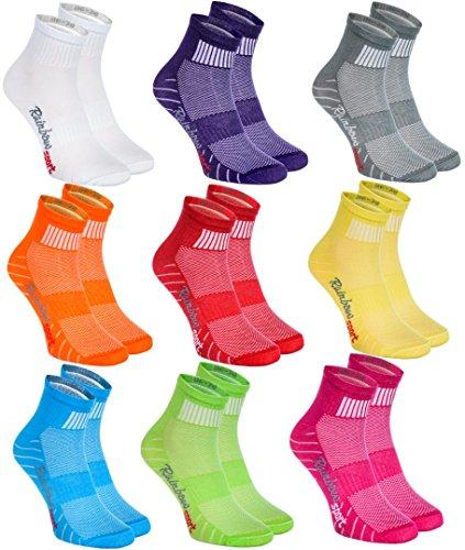 Rainbow Socks - Hombre Mujer Calcetines Deporte Colores de Algodón - 9 Pares - Multicolor - Talla 44-46