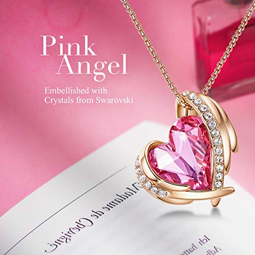 CDE-18K-WhiteRose-Gold-Necklaces-for-Mothers-Day-Jewelry-Gifts-for-Women-Heart-Pendants-Embellished-with-Crystals-Birthstone-from-Swarovski