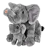 "Adventure Planet Birth of Life Elephant with Baby Plush Toy 11"" H"