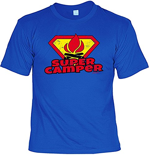 Camping Wohnmobil Caravan, Funshirt, Camper T-Shirt - Super Camper!