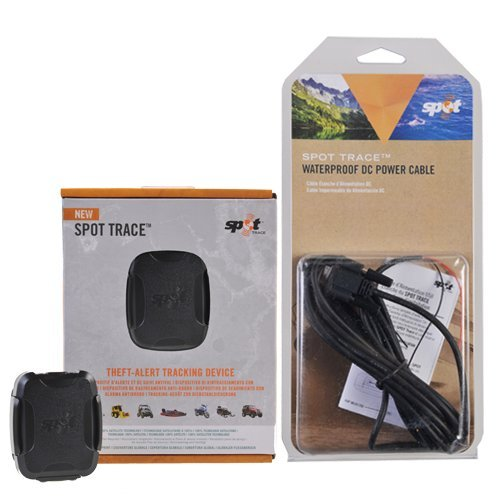 Globalstar Spot Trace - Localizador via Satélite con Alarma Antirrobo - con Cable USB Impermeable (Color Negro)