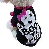 INTERNET Ropa para Perros, Camisetas Lindas del Animal Doméstico De Halloween Traje Pequeño Cachorro (XS, Negro)