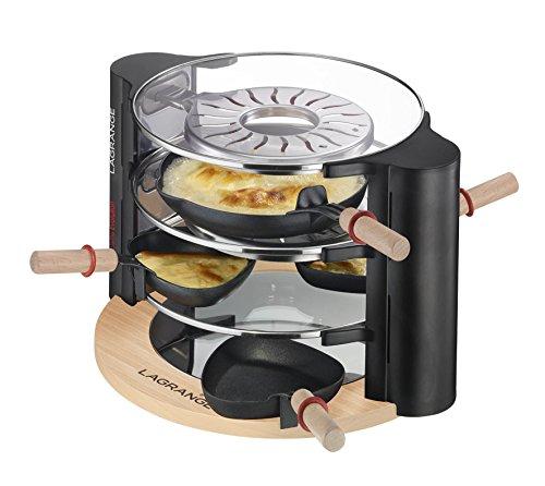 Team-Kalorik-Group LG RAC 149001 Design Glas Raclette für 8 Personen