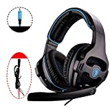 MQQ Stereo Gaming Headset for Xbox One PS4 PC-Controller-Surround-Sound über Ohr-Kopfhörer mit...