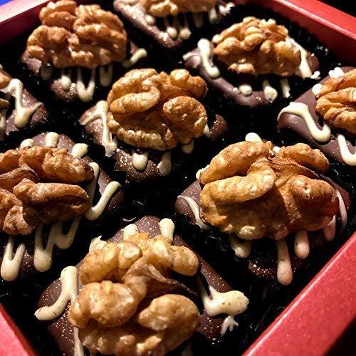 Eat to Fit Walnüsse Schokoladen Fudges ohne Zucker - Zuckerfreie Ernährung - Box 9er - diabetiker Schokolade