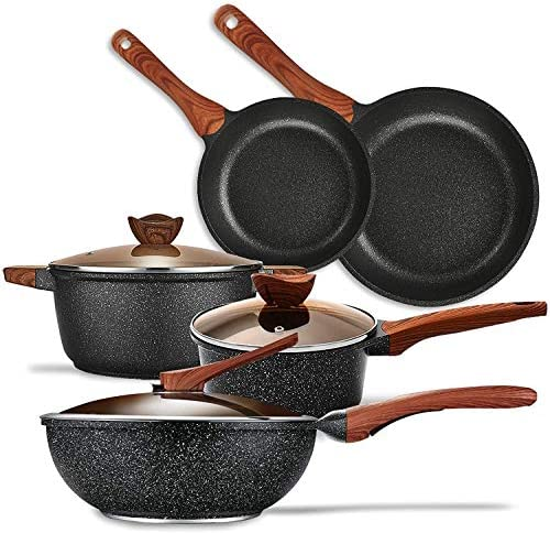 KYTD Pans and pots set Nonstick Cookware Set Aluminum Induction Ceramic Cookware Set Dishwasher product image