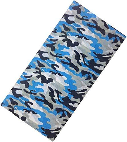 YiyiLai Bandeaux de Cheveux Foulard Multifonction Camouflage Feuille Imprimé Style 19