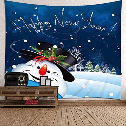 Aimsie - Tapiz de pared (350 x 256 cm), diseño de muñeco de nieve