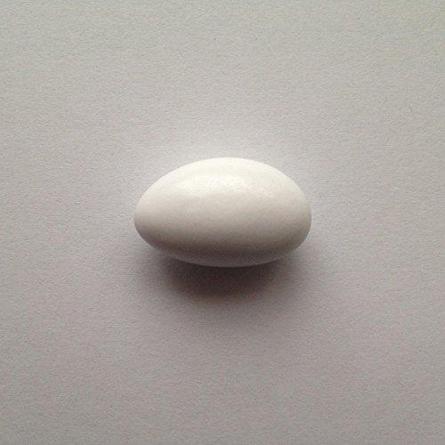 Taufmandeln 500 g hellblau, rosa od weiß (für mind 32 Gäste) - Gastgeschenke Taufe Bonboniere Kommunion Mitgebsel Konfirmation - Mandeln Taufe Taufbonbons Zuckermandeln, Farbe:weiß glänzend