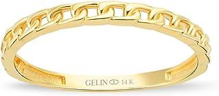 خاتم زفاف من الذهب عيار 14 قيراطًا بتصميم عقدة سلتية من جيلين | خاتم الذكرى السنوية للنساء | خواتم متراصة المجوهرات