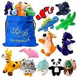 Senyouth Juguetes para perros chirridos, paquete de 12 juguetes de peluche para perros...