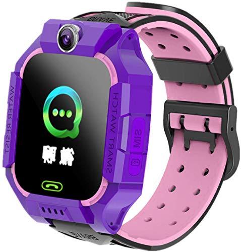 Reloj Inteligente para niños, Reloj Inteligente con música, Reloj Despertador bidireccional, Reloj Despertador, calculadora MP3, Juguetes de Regalo de cumpleaños para niños y niñas (púrpura)