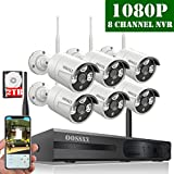 【2020 Update】 HD 1080P 8-Channel OOSSXX Outdoor Wireless Security Camera System,6Pcs 1080P(2.0 Megapixel) Wireless Indoor/Outdoor IR Bullet IP Cameras,P2P,App, HDMI Cord & 2TB Hard Drive