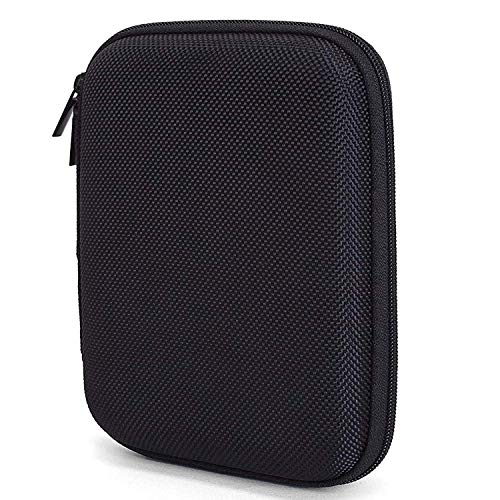 AAA PRODUCTS Protective Carrying Case for 2.5' Portable USB External Hard Disk Drives - Extra Space for Memory Cards and USB cable - Detachable Hand Strap Included