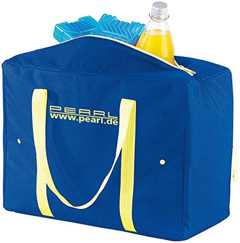PEARL Einkaufstasche isoliert: Zusammenfaltbare Nylon-Kühltasche mit 21 Litern Volumen, EPE-isoliert (Faltbare Kühltasche)