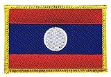 Flaggen Aufnäher Laos Fahne Patch + gratis Aufkleber,