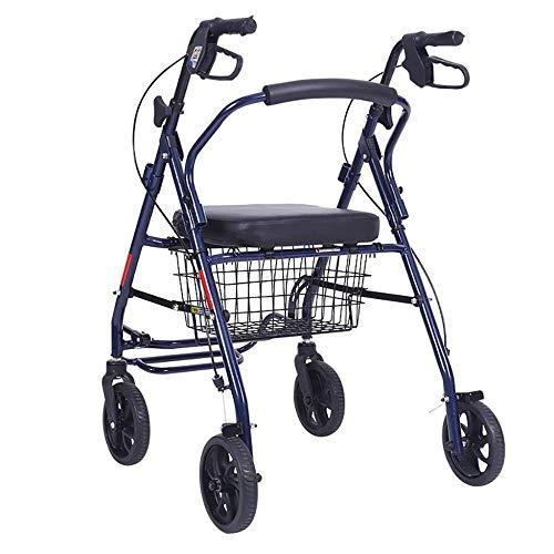 Standaard Walkers Walking Aid wandelstok Oude Rollator Trolley Vier Wiel Antislip Wandelen Stick met Ziekenhuis Wandelen Frame Wandelen Frames