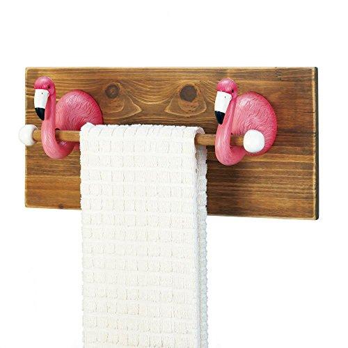 Accent Plus Flamingo Towel Holder, Multi Colour