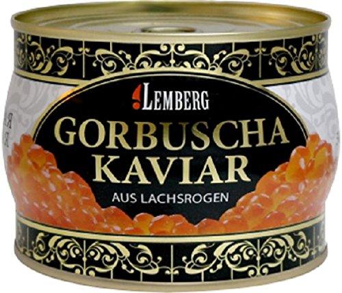 Kaviar Gorbuscha aus Lachsrogen Lemberg 500g