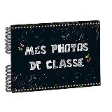 Exacompta - 16010E - Album Photos à Spirales pour Photos de Classe - 50 Pages Noires - 32 x 22 cm - Noir