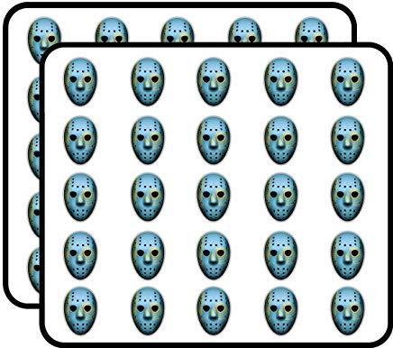 Kazachstan Vlag Ice Hockey Goalie Masker Vinyl Stickers Grappige Leuke voor Kinderen DIY Crafts, Scrapbooking, Laptop, Bumper Auto Stickers, Stickers voor Kinderen, 50 Pack