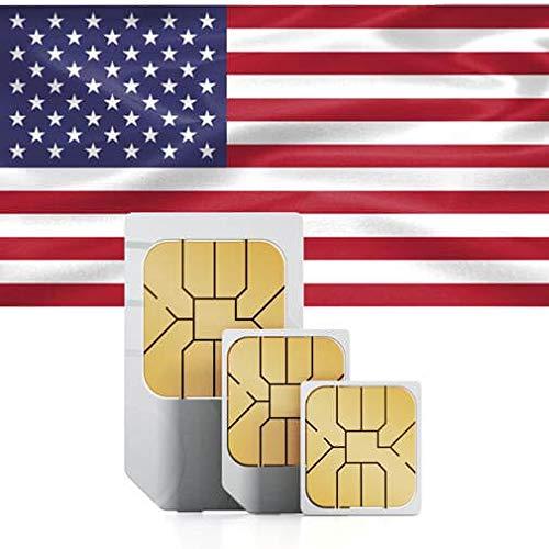 Tarjeta SIM Prepago para USA, Canada y Mexico: Amazon.es: Electrónica