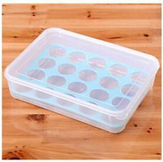 Grille indépendante Réfrigérateur Œuf boîte de rangement Oeufs Organisateur Boîte Boîtes de rangement for les œufs de cuis...
