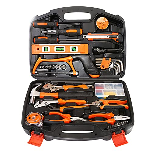 106ピースデイリーツールキット、手動修理、コンピュータ修理、毎日の家庭メンテナンスに最適
