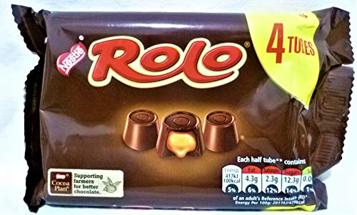 ROLO MILK CHOCOLATE WITH A SOFT TOFFEE CENTER (4X41.6G=166.4G)